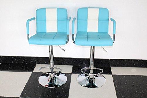 American Diner Stil der 50er Jahre Retro Bar/Hocker Stühlen mit Armlehne blau x 2