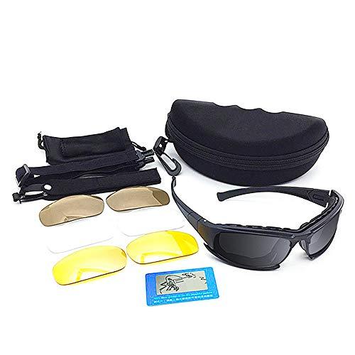 Wuxingqing Sportbrillen für Männer Harley Goggles Langlauf-Motorrad-Schutzbrillen Taktik-Motorrad-Schutzbrillen Retro-Helm Sport-Sonnenbrillen