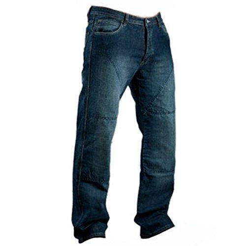 Juicy Trerdz Men's Denim Motorcycle Motorbike Sports Jeans with Aramid Protection Lining Blue