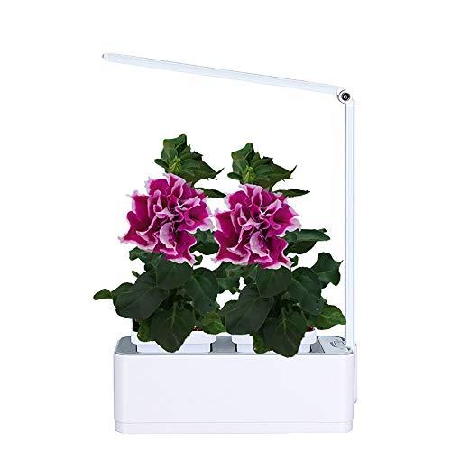 HJJH Hydroponique cultivateur Kit, avec LED Grandir Bricolage Auto arrosage d'intérieur Outils hydroponique système de Plantation de conteneurs, Faible Alarme d'eau(sans Les Plantes)