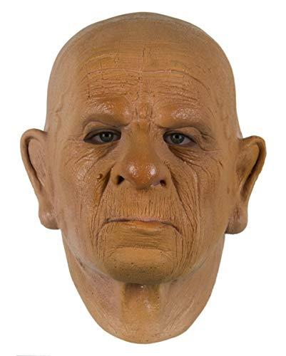 Horror-Shop Grandpa Schaumlatex Maske für Deine Opa Verkleidung