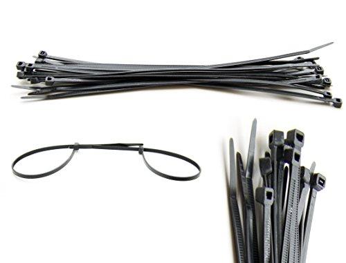 100 Stück Kabelbinder in 8,7 mm x 550 mm, Schwarz