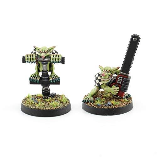 War World Gaming Gutrot Greenskins - Jugadores Especiales Goblin x 2-28mm Escala Fútbol Fantástico Miniaturas Figuras Blood Bowl Coleccionismo Minis
