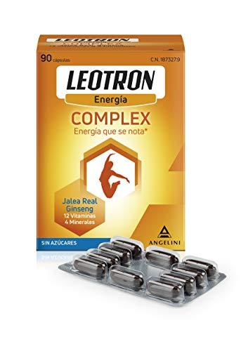 LEOTRON Complex - 90 cápsulas - Energía que se nota - Complemento alimenticio con Jalea Real, Ginseng, 12 vitaminas y 4 minerales - Envase para 90 días, a partir de 12 años.