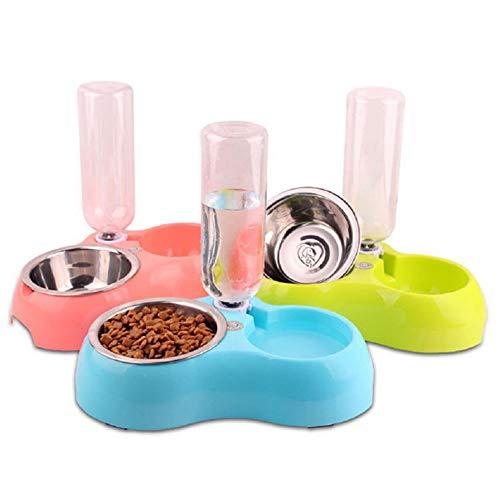 MTX-RM New Fressnapf Drop-beständig beißfest kann die automatische Wassereinspritzung Haustier Anti-Rutsch-Schüssel Wasserflasche aus rostfreiem Stahl Katze Schüssel Hundenapf ersetzt Werden,Green