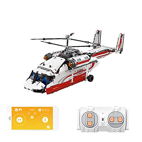 WANGCHAO 1137pcs Helicóptero de Rescate HH-60J Modelo Conjunto de Modelos, Modelo de avión de avión de avión de avión de Rescate de Aire de la Ciudad de DIY, Regalo de Juguete Modelo de colección