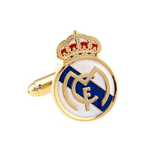 Real Madrid Cufflinks Madrid FC Logo Cuff-links with Velvet Gift Box