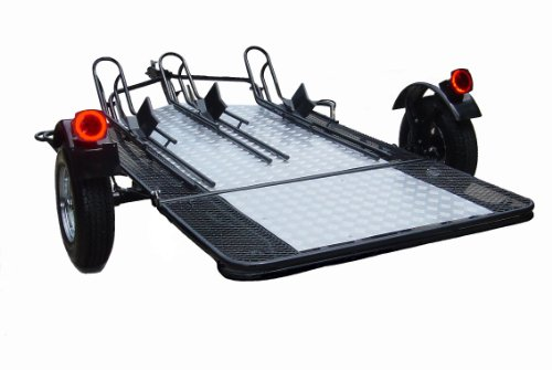 Easy Pull Open Motorcycle Trailer