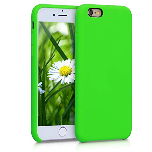 kwmobile TPU Silicone Case Compatible with Apple iPhone 6 / 6S - Case Slim Protective Phone Cover with Soft Finish - Lime Green