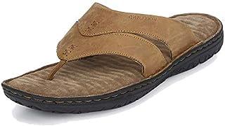 Woodland Men's Camel Leather Slippers GP 2667117 Camel