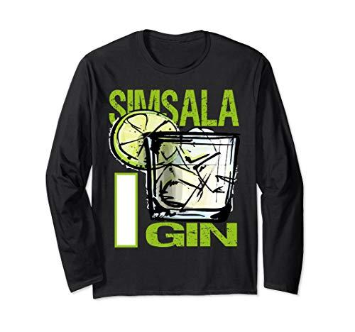 Simsala Gin Design für Gin Tonic Gintonic Alkohol Fans Langarmshirt