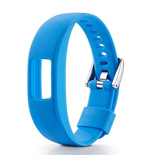 Compatible con Garmin Vivofit4 Bands, correa de silicona suave, correa de tamaño pequeño y grande para Garmin Vivofit4 Activity Tracker, S,
