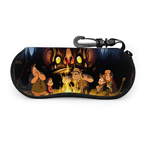 Glasses Case Waterproof with Carabiner for Safety Glasses with Zipper,Portable Sunglasses Soft Case,Belt Clip