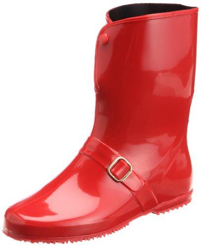 [アキレス] レインブーツ 長靴 作業靴 レインシューズ 日本製 E レディース RLB 4000 レッド 24.5 cm E