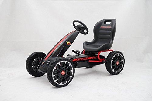 GDToys ® Kinder Pedal Go-Kart, ABARTH Lizenz, Rutscher Auto, Pedal Go Cart, 3–8 Jahre 3 FARBEN (SCHWARZ)