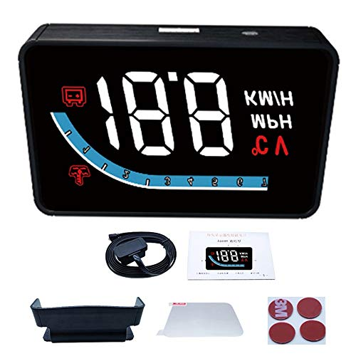 Auto-Head-Up-Display, Auto Armaturenbrett Tachometer Dual Mode OBD2 GPS Windschutzscheibe Projektor LCD Display Fahrzeug Tachometer Motor für alle Fahrzeuge