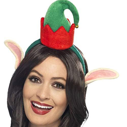 Weihnachtsmütze Haarreif Elf Reindeer Headband Weihnachten Hut Stirnband Lustige Kopfschmuck Funny Haarschmuck Cosplay Headwear Weihnachtsdeko Lustig Party, Club Rockabilly Weihnachts Haarbänder