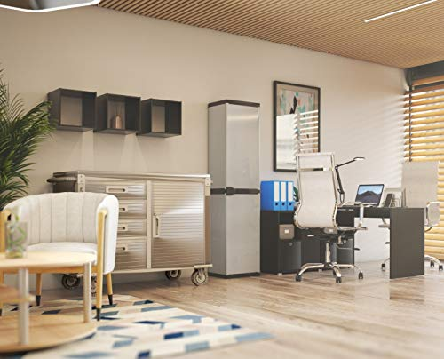 Seville Classics UHD20244 Werkbank mit 4 Schubladen, Metall pulverbeschichtet, Buche Holzarbeitsplatte, 121,9 x 50,8 x 95,2 cm, grau - 6