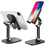 B-Land Desk Phone Holder, Angle Height Adjustable Cell Phone Stand, Universal Desktop Phone Holder Stand Tablet Stand Compatible with iPhone 11 Pro XS Max XR X 8 Plus Samsung Galaxy S10 9 8 & Tablets
