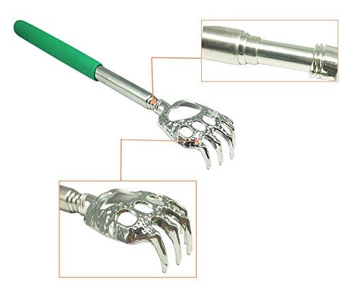 (2- PACK) LEMENG Portable Extendable Telescopic Bear Claws Metal Back Scratchers/Hand...
