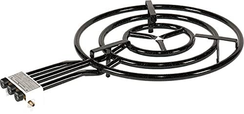La Valenciana 20600 Quemador Paellero Gas, Negro, 60 cm