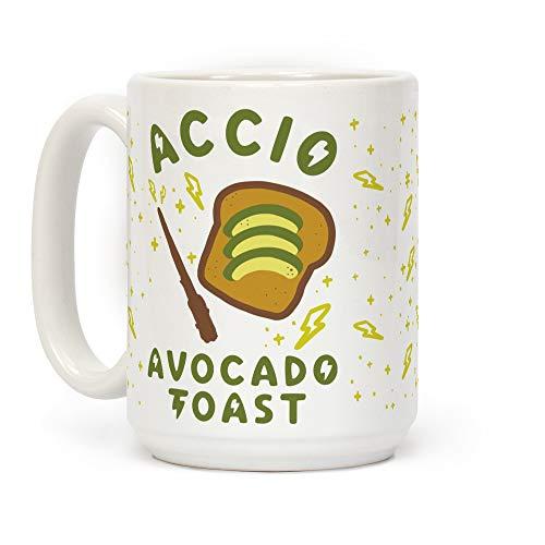 N\A Taza de café de cerámica Blanca Tostada con Aguacate Accio