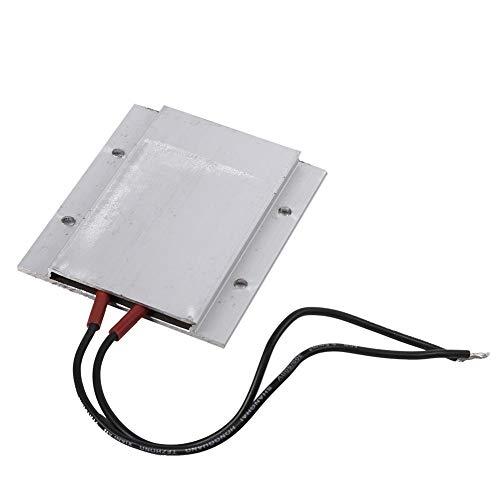 Placa calefactora de termostato PTC, 220 V eléctrica de temperatura constante Kit de calentador de aire de elemento calefactor 77 x 62 x 6 mm(50W 80℃)