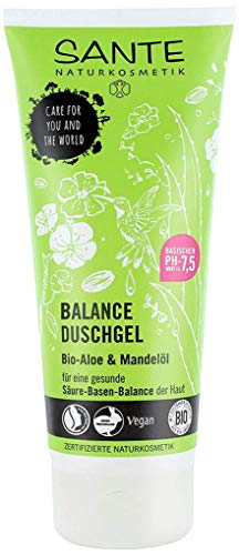 SANTE Naturkosmetik Balance Duschgel, Für gesunde Säure-Basen-Balance der Haut, Vegan, Mit Bio-Aloe & Mandelöl, 1x200ml