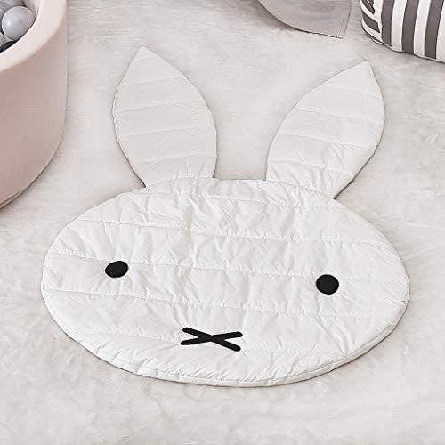 Tapis de jeu pour bébé, Tapis de décoration, Tapis de forme de lapin mignon Couverture Couverture de jeu pour bébé Tapis de jeu Tapis pour chambre d'enfants