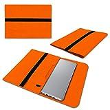 UC-Express Laptop Schutzhülle aus strapazierfähigem Filz mit praktischen Innentaschen Sleeve Hülle Tasche Cover Notebook Hülle Tasche, Farbe:Orange, Notebook:Lenovo ThinkPad Edge 13.3