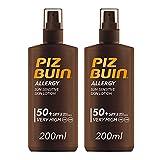 Piz Buin, Protector Solar, Allergy Spray SPF 50+ Protección Muy Alta, Pack de 2 x 200 ml