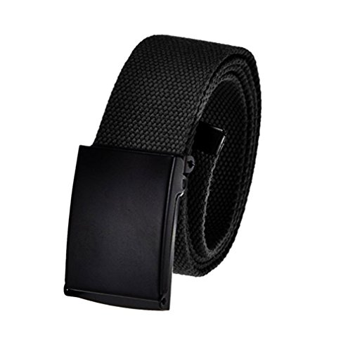 Cut to Fit Men's Canvas Golf Belt with Black Flip Top Buckle 60
