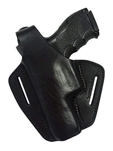 VlaMiTex B2Li Heckler und Koch P30 P30L Funda de pistola de cuero, para el cinturón, para pistolas. Para zurdos