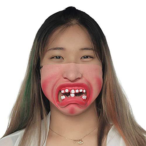 XJIUER Halloween Dekoration Lustige Erwachsene Partei Maske Latex halbes Gesicht schreckliche Scary Masken Maskerade Cosplay Party Decor Halloween a