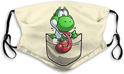 SYEA Super-Mario Luigi - Pañuelo para la boca, reutilizable, con protección de filtro, lavable para adultos, niños y hombres