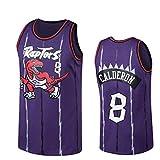 LDFN Jersey Baloncesto Baloncesto Jersey, 8 José Calderón Toronto Raptors Camiseta Sin Mangas Neutra De Baloncesto Superior De Malla Bordada Alero Jersey S-XXL (Color : Purple, Size : L)
