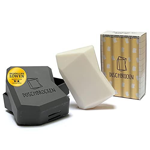 Duschbrocken - Carlos Cocos I inkl. FAIRpackung I 2in1: Festes Shampoo und Duschgel in einem | für Haut und Haare | nachhaltig, vegan und plastikfrei | Höhle der Löwen | 100g