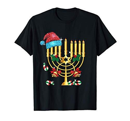 Chrismukkah Hannukah Santa Hat Family Christmas Pajama Gift T-Shirt