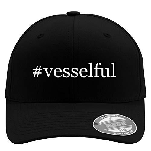 #Vesselful - Flexfit Adult Men's Baseball Cap Hat, Black, Small/Medium