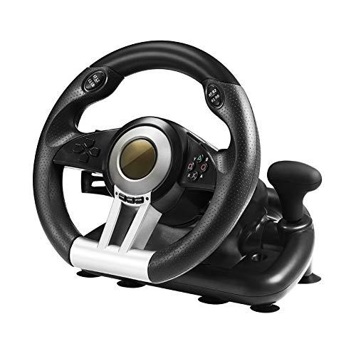 SJZC Volant, Volant de Course, Volant de Jeu de Course, Compatible avec PC / PS3 / 4 / Xbox One/Switch Host