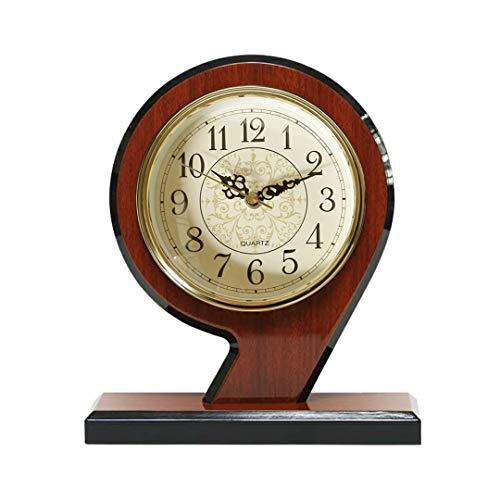SGR SHOPS Open haard klok, stille massief hout klok, batterij aangedreven, woonkamer, open haard, kantoor, keuken, bureau, home decor cadeau houten ontwerp, 9.4