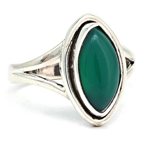 Anillo de plata de ley 925 verde ónix (No: MRI 188), Ringgröße:50 mm/Ø 15.9 mm
