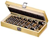 15 tlg. Forstnerbohrer Satz 10-50 mm im hochwertigen Holzkasten Set