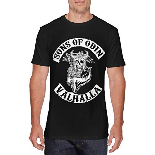 SOTTK Camisetas y Tops Hombre Polos y Camisas, Mens Funny Sons of Odin -...