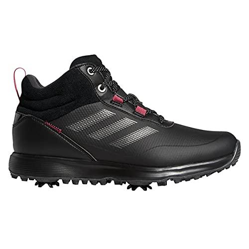 adidas Damen S2g Mid Golfschuhe, Schwarz/Rosa, 38 EU