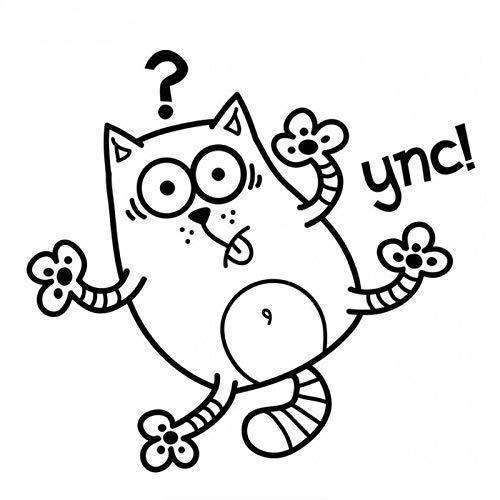 Coches y Motos Gato, Marco de interrogación Etiqueta de Coche Personalidad Cuerpo Portada Dibujo Flor (Color : 1)