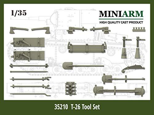 Miniarm 1/35 第二次世界大戦 ロシア/ソビエト軍 T-26軽戦車用 車載工具セット プラモデル用パーツ B35210