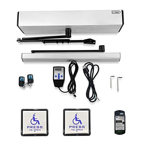 Handicap Door Opener for Disabled People, Low Energy ADA Swing Door Operator with Stainless Steel Handicap Push Buttons