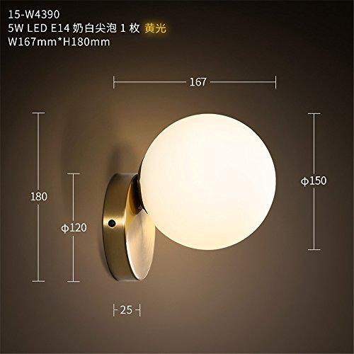 YU-K Stijlvolle slaapkamer bedlampje moderne woonkamer muur lamp studewand strijkijzer leds kinderbed kamer spiegel vooraan wandrestaurant glazen bol muur