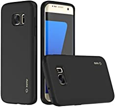 Galaxy S7 Edge Case, TOTU Rugged Thin Fit Shock Drop Proof Impact Resist [Dual Layer] Protective Case for Samsung Galaxy S7 Edge Black